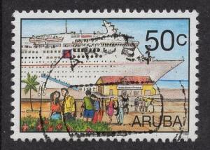 Aruba   #152   used  1997  cruise tourism   50c