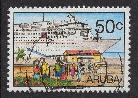 Aruba   #152   used  1997  cruise tourism   50c