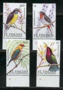 ST. VINCENT GRENADINES SCOTT #2286/89  BIRDS SET  MINT NH