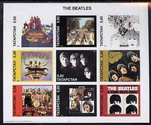 RUSSIA LOCAL SHEET IMPERF SINGERS BEATLES MUSIC STARS