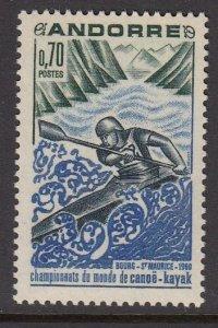 Andorra 190 Kayak MNH