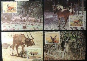 Republic of Mali 1986 WWF giant eland maxicard animals WWF mammals