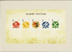 Great Britain. 2007 Harry Potter. PHQ Cards(6) Unused