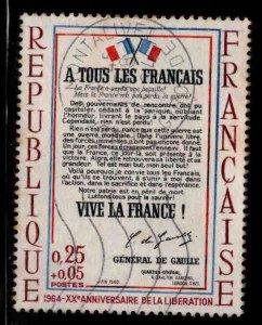 FRANCE Scott B378 Used A Tous Les Francais stamp
