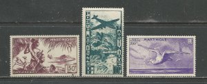 Martinique Scott catalog # C10-C12 Mint NH
