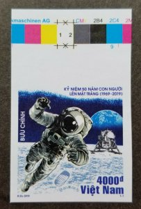 Vietnam USA 50th Anniv Moon Landing 2019 Space Astronomy stamp color MNH *imperf