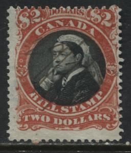 Canada QV high value $2 Bill Stamp used