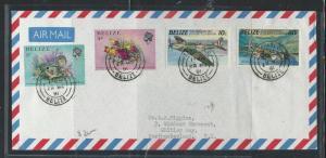 BELIZE (P0612B) 1991 FISH+AIRPLANES SAN PABLO   TO USA  A/M