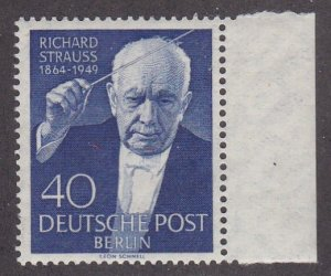Germany # 9N111, Richard Strauss - Composer, NH, 1/2 Cat
