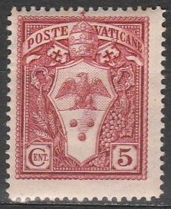Vatican City #19  F-VF Unused  (S9771)