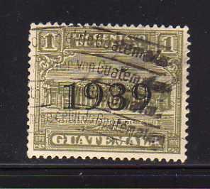 Guatemala RA12 U Post Office and Telegraph Building (C)