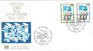 United Nations Geneva 50-2  FDC   Geneva Cachet
