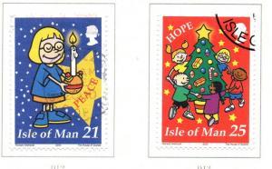 Isle of Man Sc 884-7 2000 Christmas stamp set used