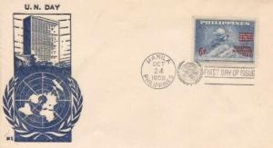 PHILIPPINES UN DAY 1959 FDC - #2