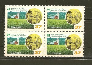 Canada 1215 Canada 4-H Clubs Block of 4 MNH