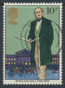 Great Britain  SG 1095  SC# 871 Rowland Hill   Used see detail and scan