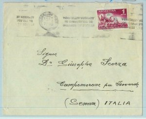 96818 - ARGENTINA - POSTAL HISTORY -  COVER  to ITALY  1957 -  1$  Cotton