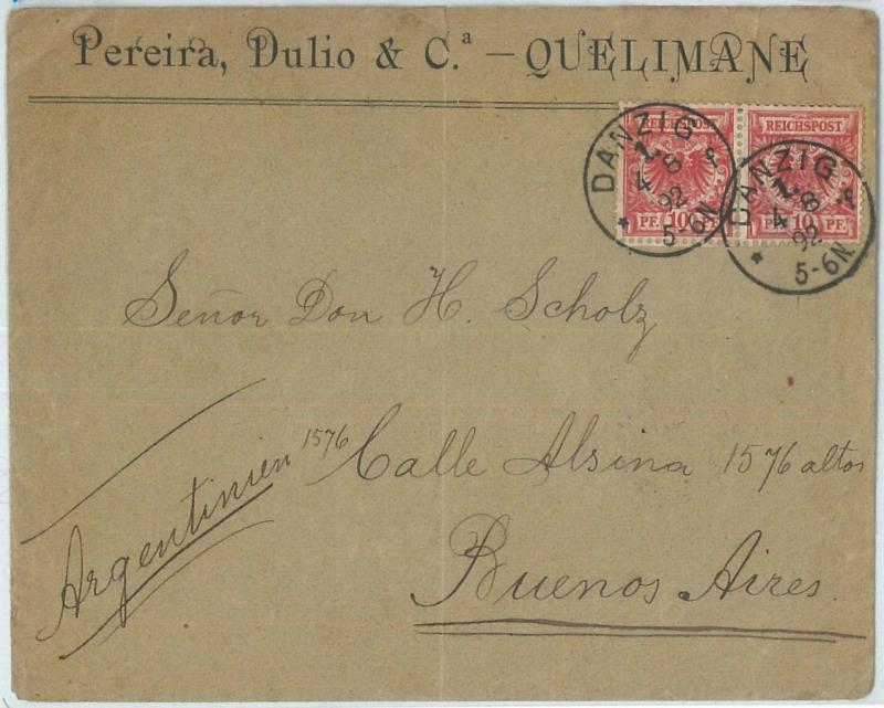 70039 - GERMANY Poland - POSTAL HISTORY - Michel 47 (2) on COVER to ARGENTINA