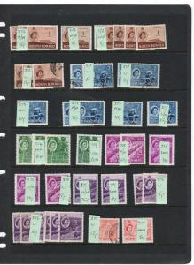 NORTH BORNEO; Early 1950s QEII early Duplicated Mint & used LOT on page