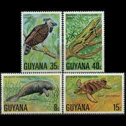 GUYANA 1978 - Scott# 267-70 Wildlife Set of 4 NH