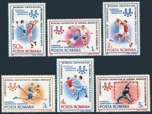 Romania 3444-3449,MNH.Michel 4341-4346. Men's World Handball Championships,1987.