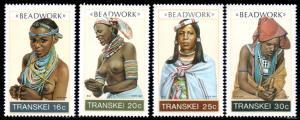 Transkei - 1987 Beadwork Set MNH** SG 201-204