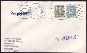 NORWAY 1974 cover BERGEN PAQUEBOT & MS VENUS ship cachet..........31042