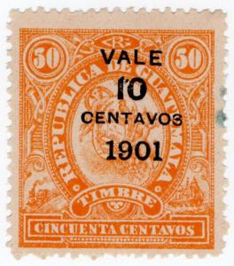 (I.B) Guatemala Revenue : Duty Stamp 10c on 50c OP
