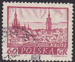 Poland 952 Hinged Used 1960 Historic Towns, Kalisz 60Gr