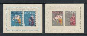 Albania - Sc# 630 & 633 MNH / Mini Sheets   /   Lot 1219509