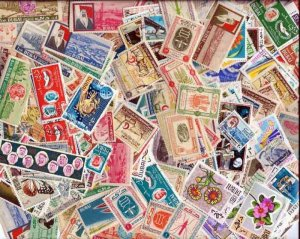 Outstanding Dubai Stamp Collection - 200 Different Stamps