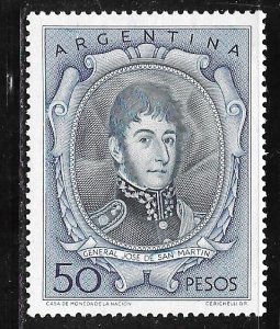 Argentina 642: 50p José Francisco de San Martín (1778-1850), MLH, F-VF
