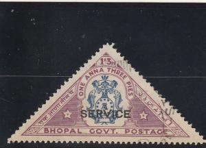 Malaya - Bhopal  Scott#  O30  Used