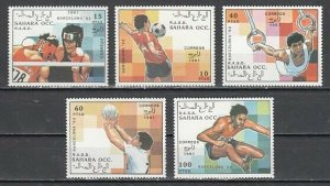 Sahara, 1991 issue. Barcelona Olympics issue. *