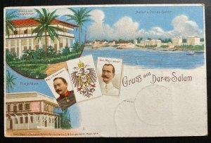 1900 Songea German East Africa Postcard Cover to Berlin Germany Dar Es Salaam Gr