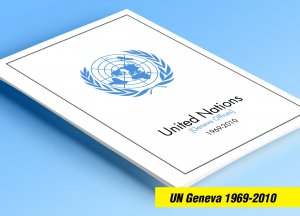 COLOR PRINTED UN - GENEVA 1969-2010 STAMP ALBUM PAGES (112 illustrated pages)