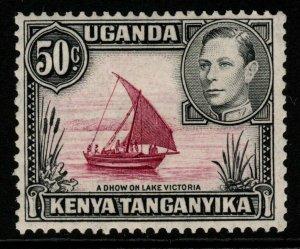 KENYA, UGANDA & TANGANYIKA SG144b 1947 50c DULL CLARET & BLACK MTD MINT