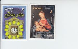 2013 Spain Christmas & New Years  SA (Scott 3941-42) MNH