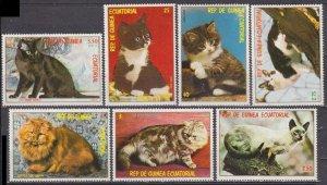 1978 Equatorial Guinea 1394-1400 Cats
