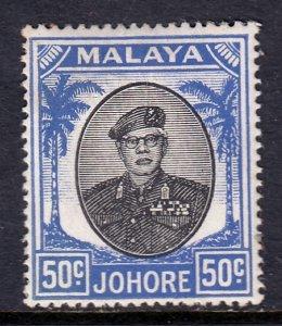 Malaya (Johore) - Scott #147 - MH - Toning spot - SCV $4.00