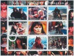 1937 - TURKMENISTAN, 2000 MINIATURE SHEET: Xena Warrior Princess, TV series