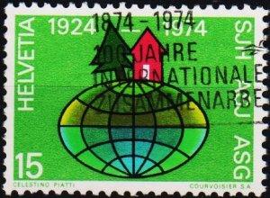 Switzerland. 1974 15c. S.G.876  Fine Used