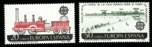 SPAIN SG2961/2 1988 EUROPA TRANSPORT & COMMUNICATIONS MNH