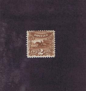 SCOTT# 113 OG LH 2 CENT POST HORSE & RIDER, 1869, FINE-VERY FINE, TAKE A LOOK.