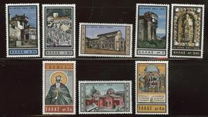 GREECE Scott 770-777 MNH** 1963 Mt. Athos monastic set