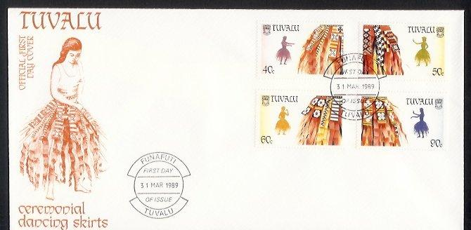 Tuvalu - 1989 Traditional Dancing Skirts (FDC)