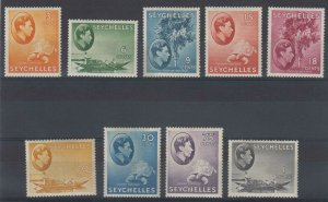 BC SEYCHELLES 1938-41 Sc 127 thru 145 (9x) MNH OR HINGED MINT SCV$28.15