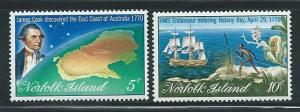 Norfolk Island 141-2 200th Cook Discovery set MNH