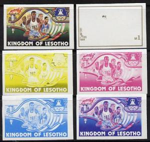 Lesotho 1984 Los Angeles Olympic Games 1m (Running) set o...