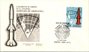 Argentina, Polar, Worldwide First Day Cover, Space